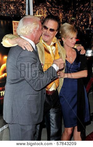Ric Flair and wife Tiffany with Mickey Rourke   at the Los Angeles Premiere of 'The Wrestler'. The Academy Of Motion Arts & Sciences, Los Angeles, CA. 12-16-08