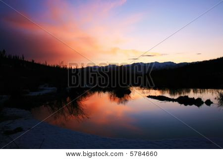 Colorado Sunrise reflected on water