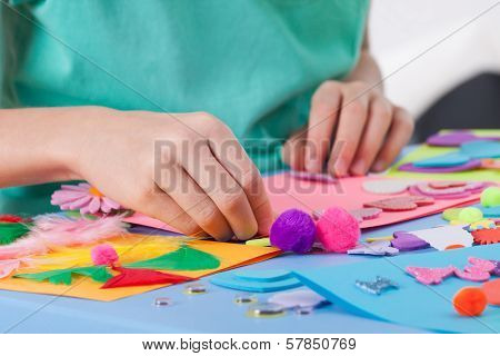 Little Boy Making Crafts