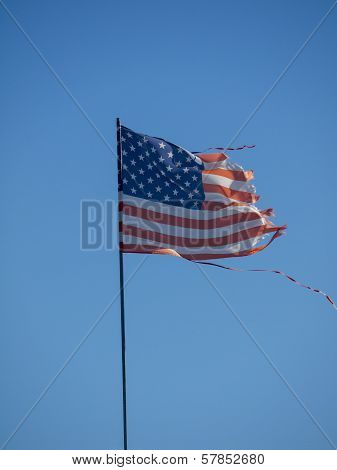 Tattered American Flag 1030851