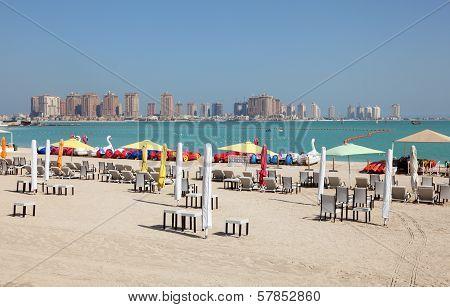 Beach In Doha, Qatar