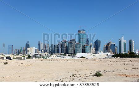 Skyline Of Doha. Qatar