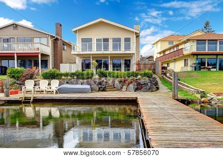Backyard View From Dock