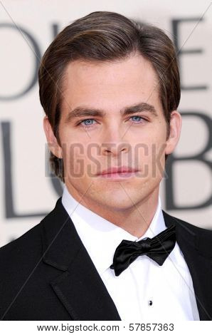Chris Pine at the 66th Annual Golden Globe Awards. Beverly Hilton Hotel, Beverly Hills, CA. 01-11-09