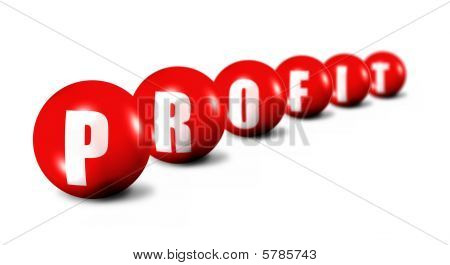Profit Word Made Of 3D Spheres