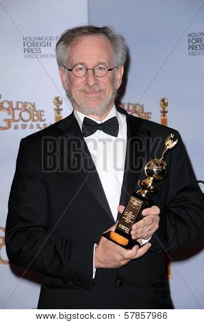 Steven Spielberg in the press room at the 66th Annual Golden Globe Awards. Beverly Hilton Hotel, Beverly Hills, CA. 01-11-09