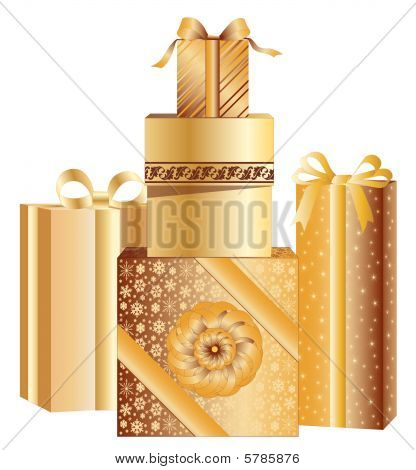 Gold Christmas Presents
