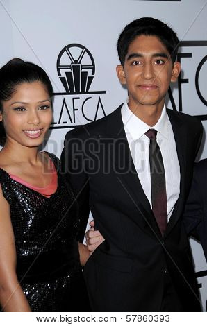 Freida Pinto and Dev Patel  at the 34th Annual Los Angeles Film Critics Awards. Intercontinental Hotel, Century City, CA. 01-12-09