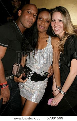 Ten Travis with Charmaine Blake and Kristen Black  at the Birthday Bash For Hollywood Publicist Charmaine Blake. 24k Lounge, Hollywood, CA. 01-14-09