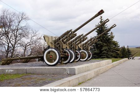 Soviet Artillery From The Ww2