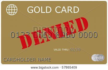 Denied Gold Credit Card