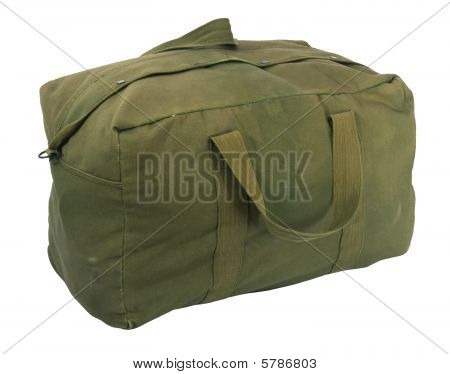 Military Green Canvas Duffel Bag