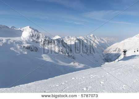 The winter alpes