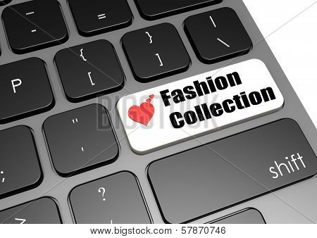 Love fashion collection keyboard