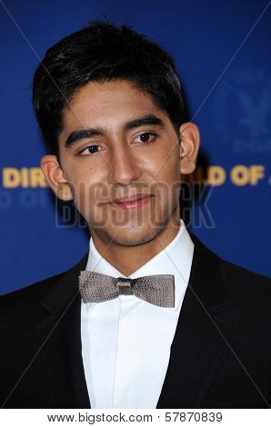 Dev Patel in the press room at the 61st Annual DGA Awards. Hyatt Regency Century Plaza, Los Angeles, CA. 01-31-09