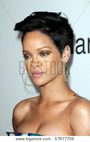 Rihanna at the Salute To Icons Clive Davis Pre-Grammy Gala. Beverly Hilton Hotel, Beverly Hills, CA. 02-07-09