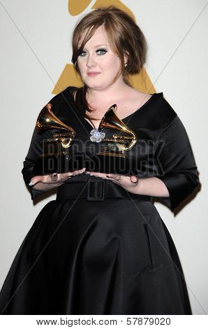Adele in the press room at the 51st Annual GRAMMY Awards. Staples Center, Los Angeles, CA. 02-08-09