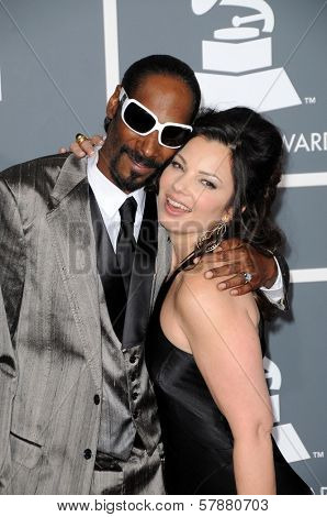 Snoop Dogg and Fran Drescher at the 51st Annual GRAMMY Awards. Staples Center, Los Angeles, CA. 02-08-09