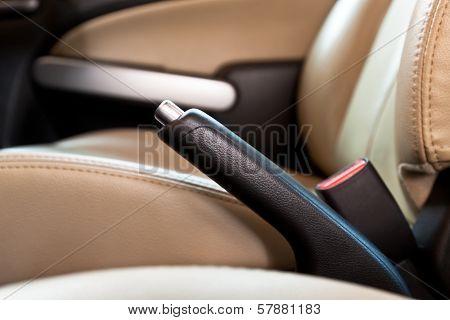 Hand Brake In  Car.