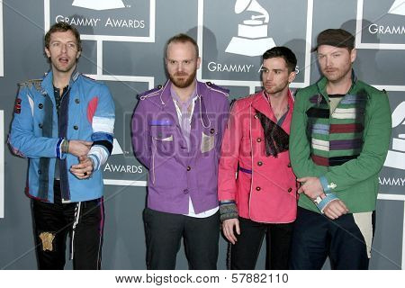 Coldplay at the 51st Annual GRAMMY Awards. Staples Center, Los Angeles, CA. 02-08-09