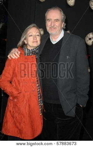 Iya Labunka and Wes Craven at the Los Angeles Premiere of 'Friday the 13th'. Grauman's Chinese Theatre, Hollywood, CA. 02-09-09