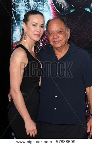 Cheech Marin and wife at