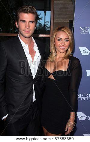 Liam Hemsworth, Miley Cyrus at the Australians in Film 8th Annual Breakthrough Awards, Hotel Intercontinental, Century City, CA 06-27-12