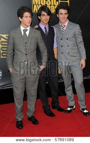 Jonas Brothers  at the 2008 American Musica Awards. Nokia Theatre, Los Angeles, CA. 11-23-08