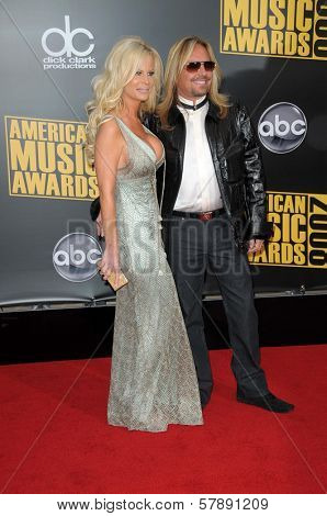 Lia Gherardini and Vince Neil  at the 2008 American Musica Awards. Nokia Theatre, Los Angeles, CA. 11-23-08