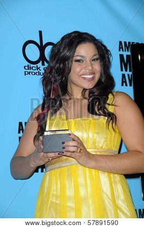 Jordin Sparks  in the press room at the 2008 American Musica Awards. Nokia Theatre, Los Angeles, CA. 11-23-08