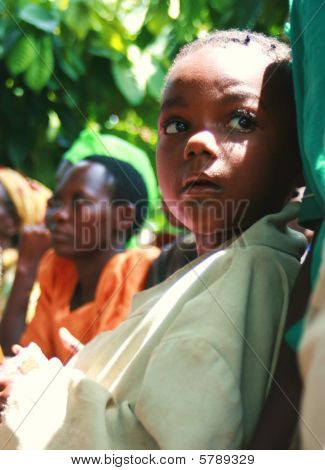 Children from Uganda in school