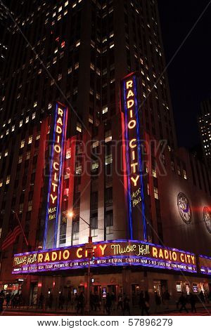 Corner Of Radio City Music Hall