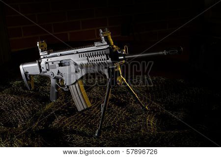 Semi Auto Rifle With Yellow Gels