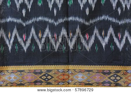 Hand-woven Fabrics In Thai-pattern Designs.