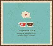 stock photo of recipe card  - you are my cup of tea - JPG
