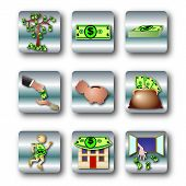 foto of waste management  - Money Icon Set - JPG