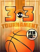 stock photo of basketball  - A basketball tournament flyer or poster perfect for basketball announcements games tournaments camps and more - JPG