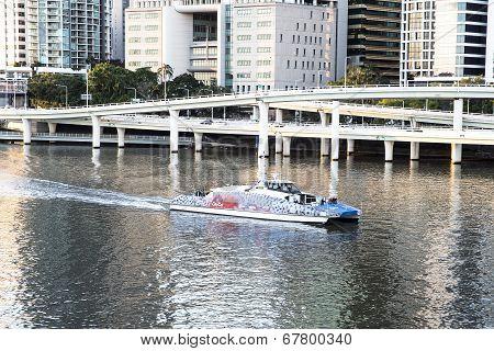 Brisbane CityCat on the Brisbane River