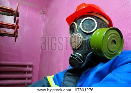 Worker of chemical plant
