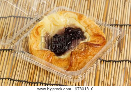Danish Pastry With Blueberries Jam