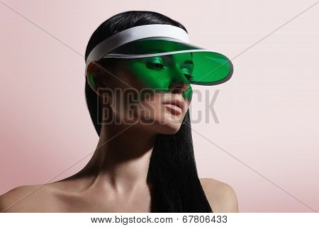 Woman In A Sunvisor