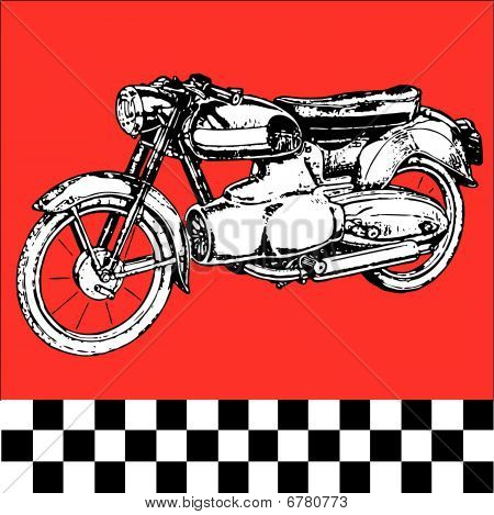 Moto motocycle retro vintage classic vector