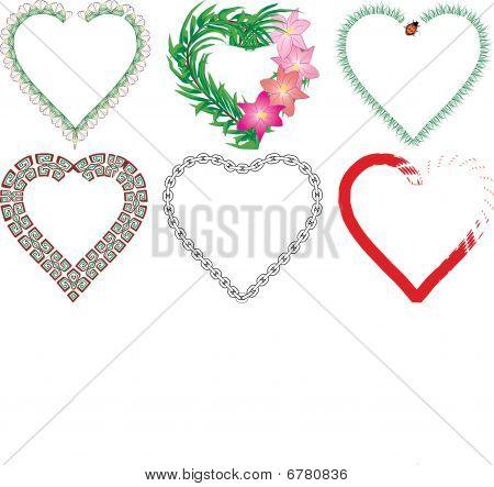 Set of valentine`s hearts, part 5