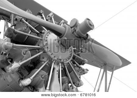 Vintage Airplane Engine