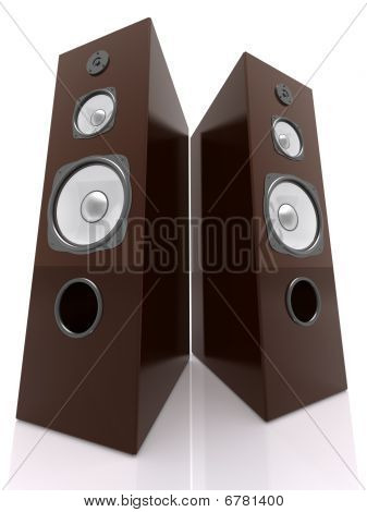 Wooden Speakers Wide