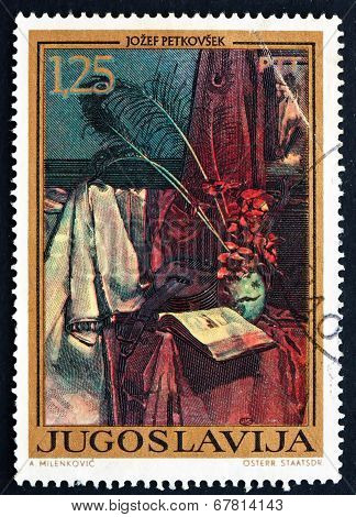 Postage Stamp Yugoslavia 1972 Still-life, By Jozef Petkovsek
