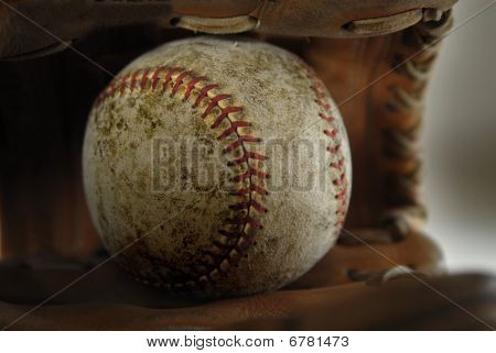 Baseball And Mitt Or Glove