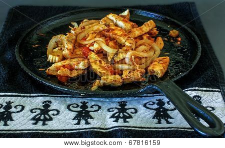 Chicken Fajitas Sizzling Hot