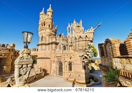 Castle monument of Colomares on April 28 2014