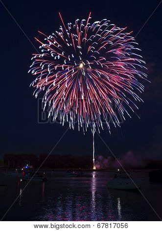 Fireworks On The River